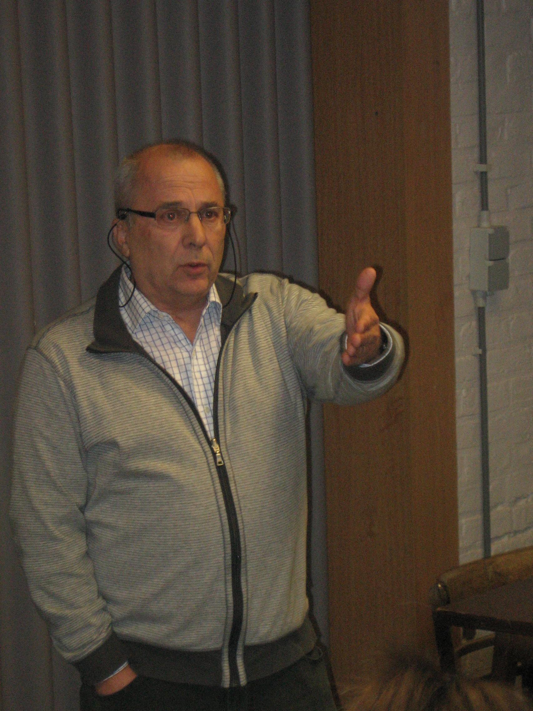 Voorzitter Johny Rons